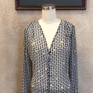 Pleione shear blouse EUC